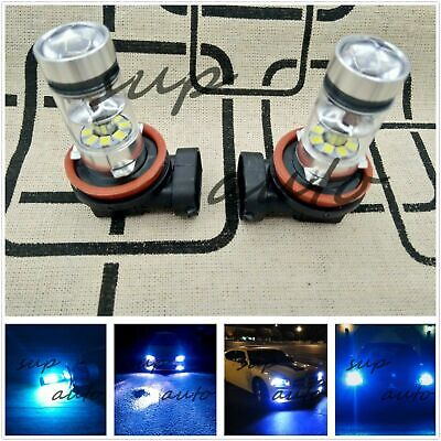 2X H11 H8 H9 H16 Super Bright 8000k ice blue  55W CREE LED Bulb Kit Fog Light