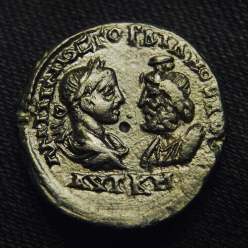 Æ27 Markianopolis Emperor Gordian III & Serapis Rv Nemesis 13.09 grams 26-7mm