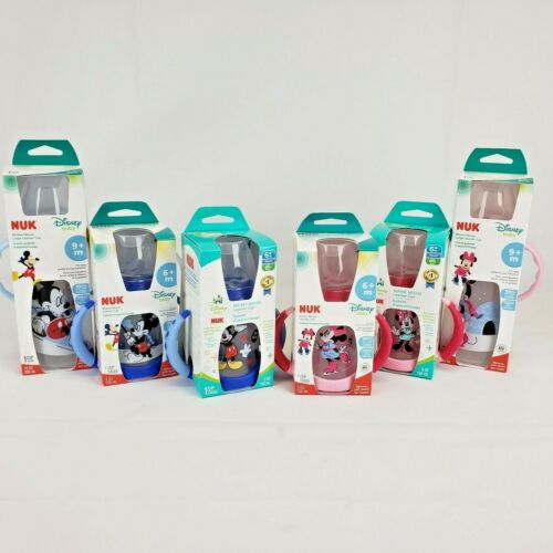 NEW! NUK: Disney Minnie Mouse Mickey Mouse - 6+ or 9+ month Learner Cup