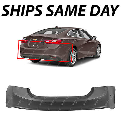 NEW Primered - Rear Bumper Cover for 2016-2018 Chevy Malibu with Park & Parallel