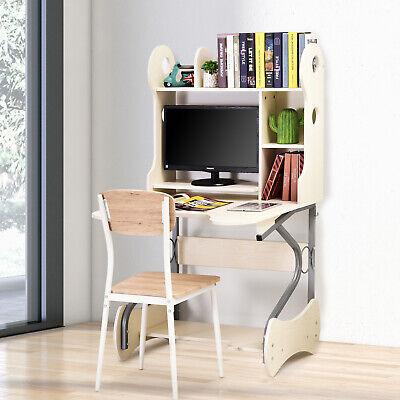 HOMCOM Computer Desk w/ Storage Shelves Wooden Writing Table Adjustable Height
