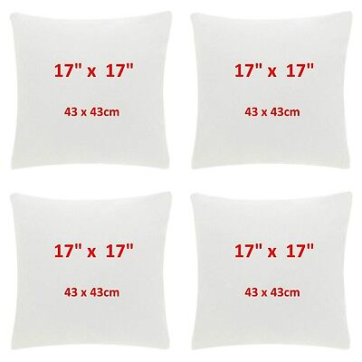 17 Inch Cushion Pads Fluffy Inserts for Sofa Cushions UK Made 30% off RRP  ()