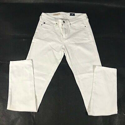 AG Adriano Goldschmied The Prima Mid-Rise Cigarette White Jeans Size 27r