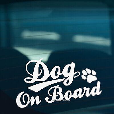 DOG ON BOARD S2 Paw Print Pet Car,Van,Window,Bumper Vinyl Sign Decal Sticker