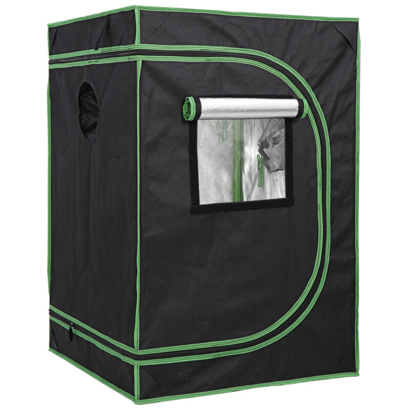 Mylar Hydroponic Grow Tent with Observation Window and Floor Tray Plant Growing