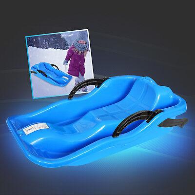 Kinder Schlitten Schnee Bob Lenkung Handbremse Schlittenfahren Rodeln Blau Eaxus