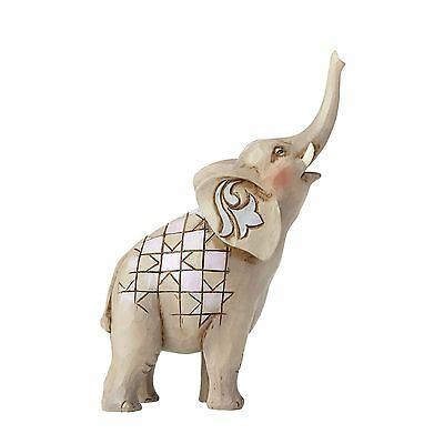 Enesco JSH6 Jim Shore Heartwood Creek Mini Elephant Raised Trunk Figure 4055059
