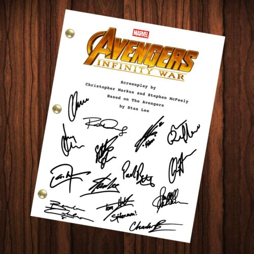 Avengers Infinity War Signed Autographed Script Full Script Reprint