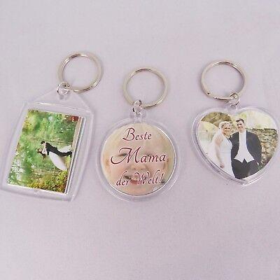 ♥ Personalisierter Schlüsselanhänger mit FOTO Geschenk für Mama Papa Muttertag ♥