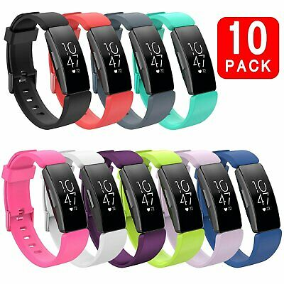 10 Color Wristband Silicone Bracelet Strap Band for Fitbit Inspire / Inspire HR Jewelry & Watches