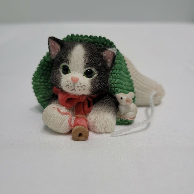 "Calico Kittens by Enesco ""You Hold The Strings To My Heart"" Vintage Figure 1997"