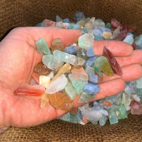 500 Carat Lots of (SMALL) Natural Mixed Calcite Rough + FREE faceted gemstone