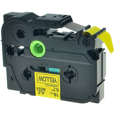Tz-641 Label Tape Black On Yellow Tze-641 For Brother P-touch Pt-d600 18mm 34