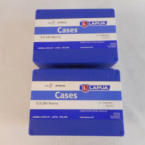 LAPUA Plastic Rifle Cartridge Cases 6.5-284 Norma Lot of 2 Cases