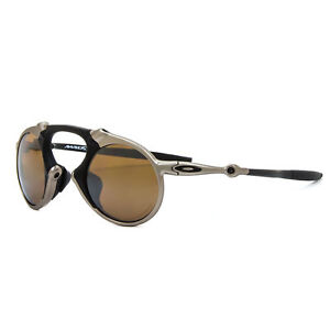 New Oakley Mad Man Sunglasses OO6019-03 Plasma / Tungsten Iridium Polarized