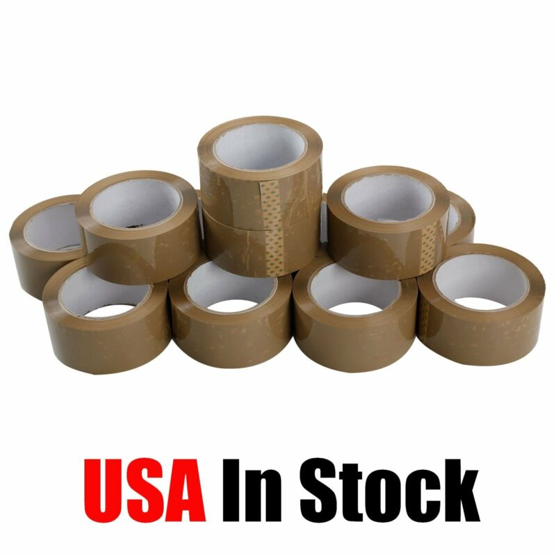 """36 Rolls Carton Sealing Brown Packing Tape Box Shipping - 2 mil 2"""" x 110 Yards"""