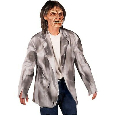 Zagone Studios Tattered Gray/Black Monster Zombie Coat Jacket Halloween Costume (Studio C Halloween)