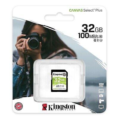 32GB SD Kingston Ultra Memory Card For Canon Powershot D20 & D30...