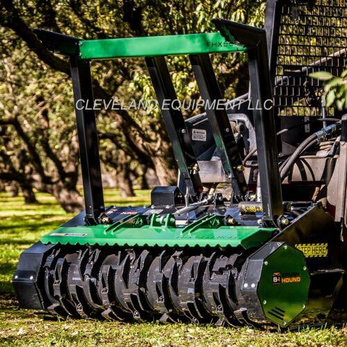 """New 66"""" Brush-hound Fhx Defender Forestry Mulcher Skid Steer Loader Attachment"""
