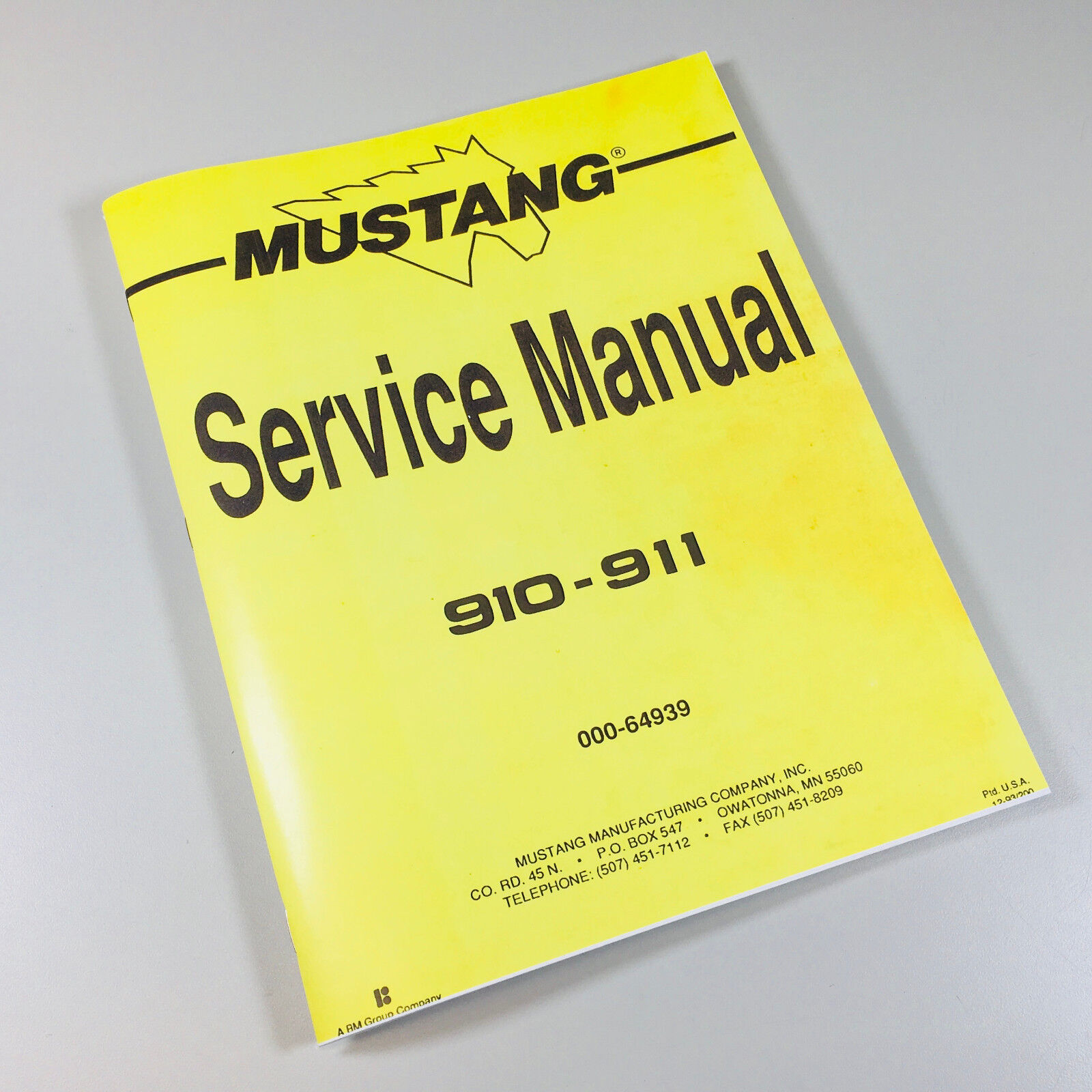 Service/Repair/Overhaul Manual