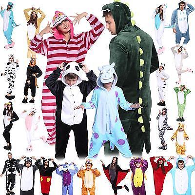 Tierkostüme für Erwachsene Herren Damen Tier Kostüm Jumpsuit Onesie Männer S-XL