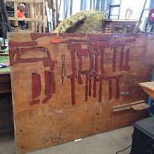 Men's Shed old tool display board Thomastown Whittlesea Area Preview