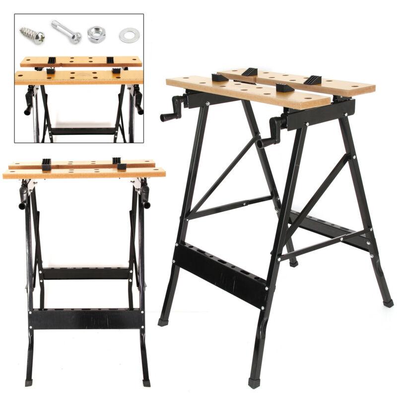 Superb Details About Foldable Workbench Portable Wood Bench Work Clamping Folding Worktop Table Uk Camellatalisay Diy Chair Ideas Camellatalisaycom