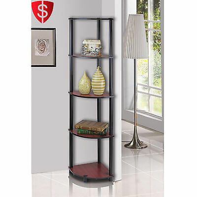 Corner Wall Shelves 5 Tier Rack Display Storage Shelf Mount Home Decor Bookshelf