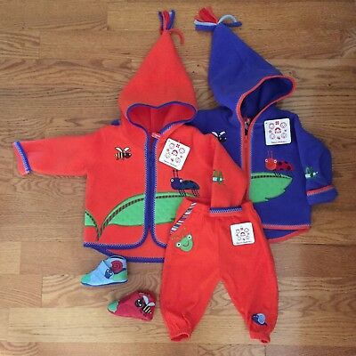 50 60 Outfits (HANNA ANDERSSON 50 60 FLEECE Jacket Pants Shoes NWT Mix Match LUV A BUG)