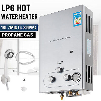 18L 4.8GPM Lpg Gas Propane Tankless Water Heater Instant Hot Water Boiler -