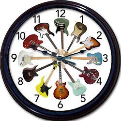 Guitar Electric Wall Clock Guitars Fender Instrument Music Musician New 10