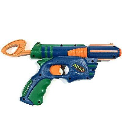 Nerf Tech Target Eliminator Single Shot Soft Dart Gun - Blue Green Orange 2003 (Nerf Tech Target)