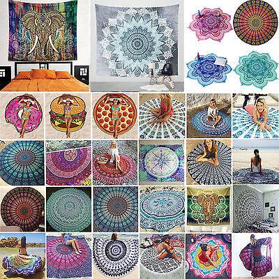 Mandala Hippie Strandtuch Yoga Matte Runde Wandbehang Tapisserie Wandteppich