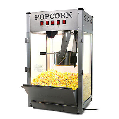Paramount 16oz Commercial Popcorn Maker Machine - 16 Oz Kettle Popper Silver
