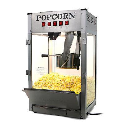 Paramount 16oz Commercial Popcorn Maker Machine - 16 Oz Kettle Popper Silver