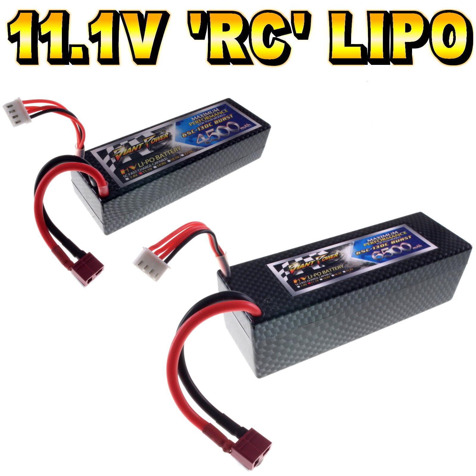 11 1V 4500mAh 6500mAh 3s LiPo Hard Case RC Car Battery 65 130C