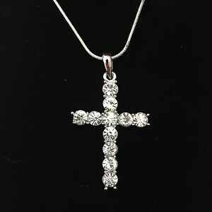 19c4f402ba Mother's Day Religious Gift Swarovski Elements Crystal Cross Pendant  Necklace