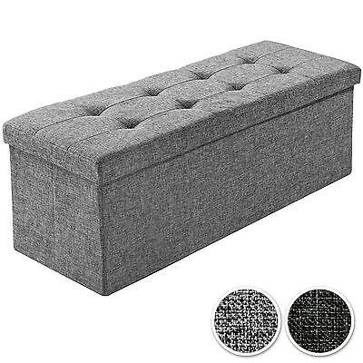 Plooibare zitbank kist zitcubus opbergdoos voetbank stoel zitcube 110x38x38cm