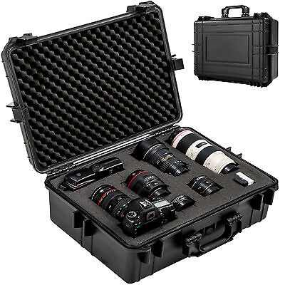 Foto hard case box bag camera photography travel protective waterproof black new