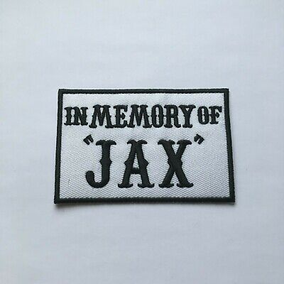 In Memory Of Jax Sons Of Anarchy Iron On Patch