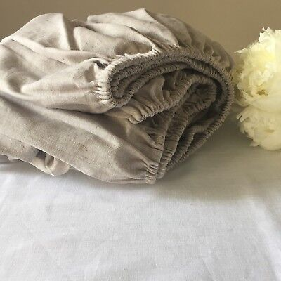 Pure Linen Fitted Bed Bottom Sheet - Twin, Full, Queen, King, Cal King Sizes