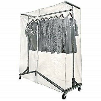 New Commercial Grade Garment Black Base Z-rack With Cover Supports Vinyl Cover