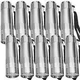 LOT OF 10 SUPERBRIGHT Titanium 9-LED Lamp FLASHLIGHT Torch Light