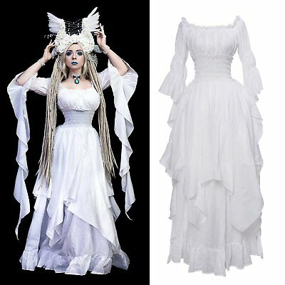 Medieval Renaissance Dress Pirate Boho Peasant Wench Victorian Ball Gown Costume (Plus Size Victorian Costumes)