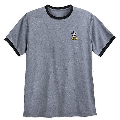 DISNEY Store TEE for Men MICKEY Mouse EMBROIDERED RINGER T Shirt Pick Size - Mickey Mouse Shirts For Adults