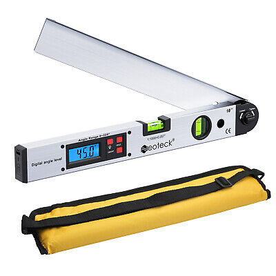 0225 Digital Lcd Protractor Ruler 400mm Spirit Level Angle Finder Meter