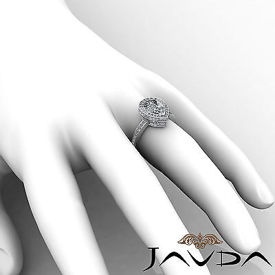 Circa Halo Pave Pear Shape Diamond Engagement Ring GIA Certified G SI1 2.05 Ct 5