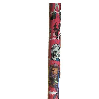 Monster Wrapping Paper (New Monster High Pink Wrapping Paper 20 sq)