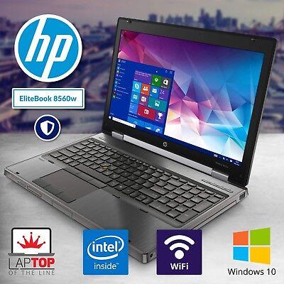HP Laptop Computer Intel i7 Quad Core 8GB 500GB PC Windows 10 Pro DVD HD Webcam