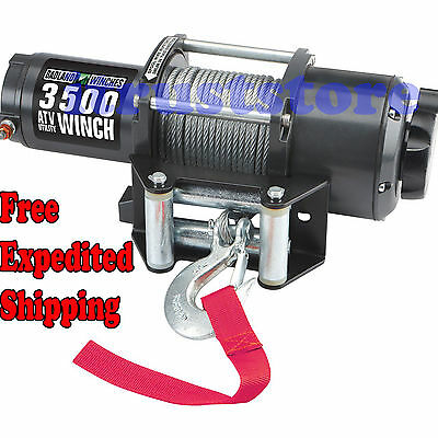 3500LB POUND ELECTRIC WINCH ATV QUAD UTV SXS MUV TRUCK BOAT LIFT HOIST REMOTE
